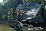 Shed fire in Springwater caused by campfire that had not been properly extinguished
