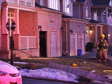 East Oshawa house fire