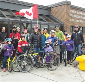 Members of both Vanier and Overbrook's cycling groups joined forces and braved the cold spring weather to ride to the Maple Sugar Festival at Richelieu Park on April 5. The bicycle ride, organized by Velo Vanier, saw residents ride to the Overbrook Community Centre and back to the park to enjoy pancakes.