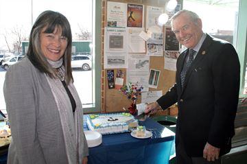 MPP Sophie Kiwala and Frontenac Islands mayor Denis Doyle