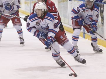 Rollo's four-point night leads Oakville Blades to 9-4 win over Burlington Cougars