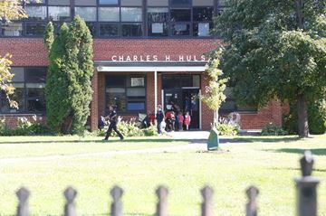 Students evacuated at elementary school– Image 1