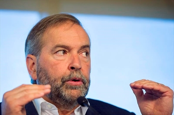 Mulcair highlights NDP's pacifist roots-Image1