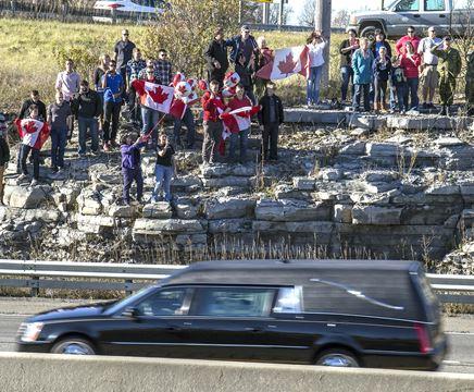 Kingston says farewell to a fallen hero