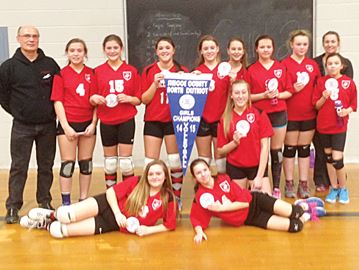 Midland's Sacred Heart School wins girls volleyball championship