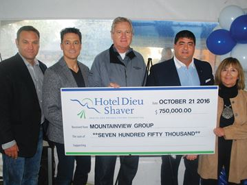 Donation to Hotel Dieu Shaver