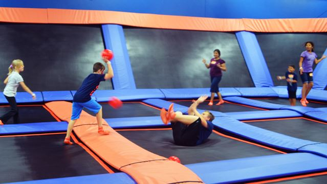 reaching for the sky trampoline park opens in st. Black Bedroom Furniture Sets. Home Design Ideas