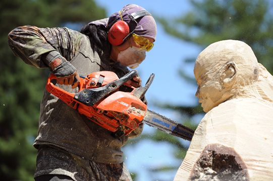 World class carvers bring their chainsaws to boler