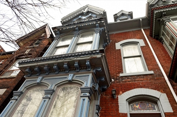 Hamilton history buff Robin McKee is finally moving into the Painted Lady house on MacNab North which he purchased several years ago and has been restoring ever since. It is one of several houses designed by famous Hamilton architect James Balfour.