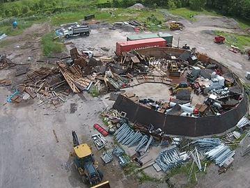 Wind damage at Millgrove works yard
