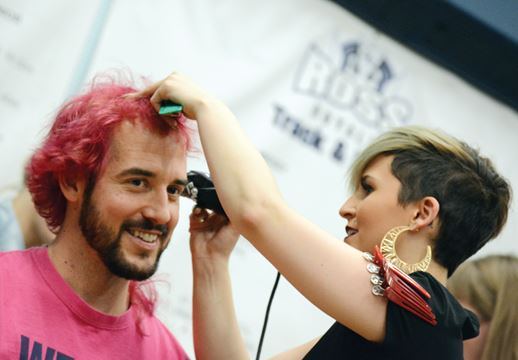 Guelph mercury head shaving for Acqua salon guelph
