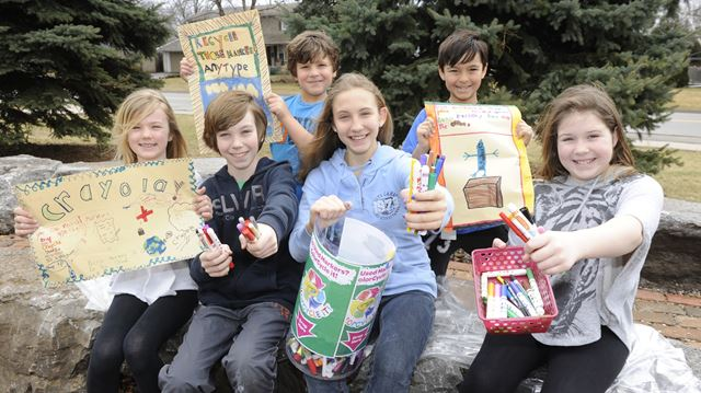 Burlington school helping to turn old markers into fuel