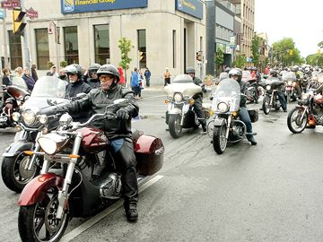 Heroes Highway ride and rally