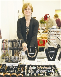 Community - The MERA Schoolhouse was the place to be on Saturday, Nov. 30 as the Christmas Craft Show was under way. Yvonne Lalonde, a fine arts jeweler who also appears at the Perth Farmers' Market in the summer, had a busy spot with her creative jewelry pieces.