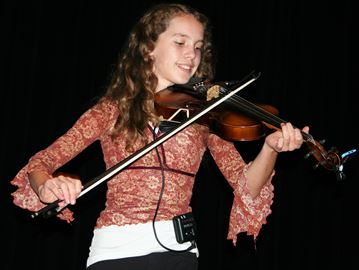 12-year-old Jessica Wedden has been a crowd favourite at the last two Sharbot Lake & District Lions Club Seniors Nights.