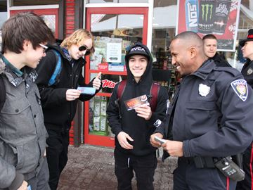 Police to 'ticket' youth for random acts of kindness