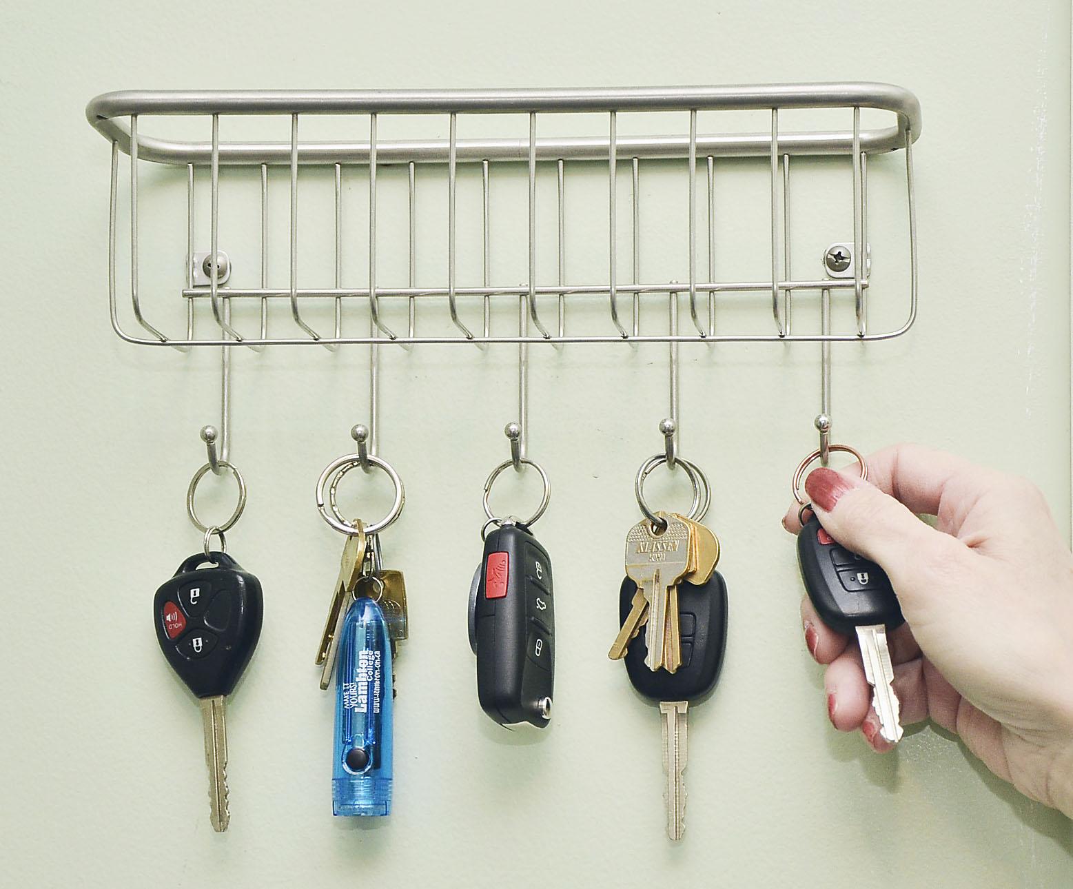 Hang keys by the entrance door