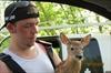 Deer rescuer