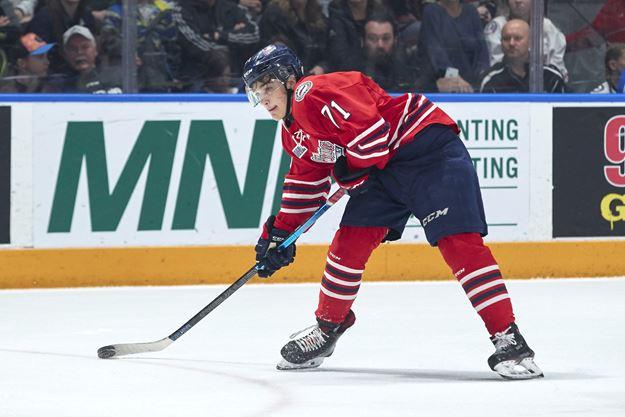 Tyler Tullio heads into NHL draft year on a roll with Oshawa Generals