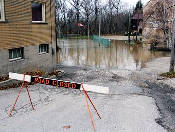 Flooding in Ayr