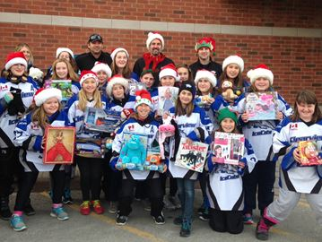Clearview Icecats party boosts toy drive