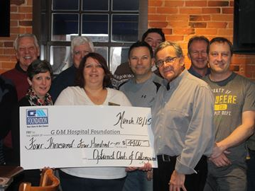 Collingwood Optimist Club completes $10,000 hospital pledge a year early