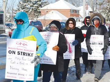 CCAC workers on strike
