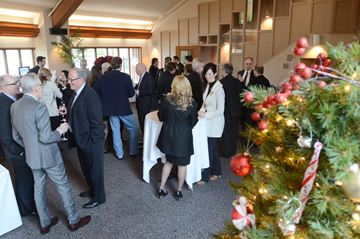 Members of the Newmarket Chamber of Commerce meet for Christmas lunch at the Cardinal Golf Club.