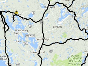 Muskoka road conditions, 6:59 a.m. Jan. 17