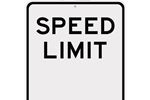 Speed limit signage
