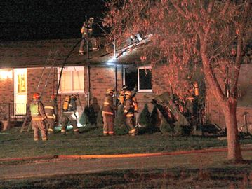 Firefighters responded to a fire in a semi-detached home in Grassie Wednesday night. Police have confirmed there was a fatality, but say it is not necessarily related to the fire.