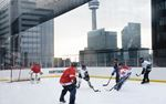 York Region Hockey Players on Top of the City