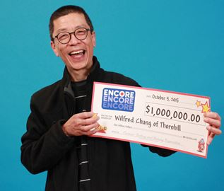 Surprised millionaire