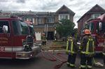 Milton fire department battling kitchen fire