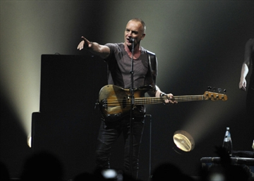 Sting at the opening show of the Back to Bass tour in Kelowna.