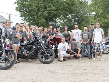 Motorcycle riders gather in Angus