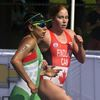 Women's triathlon action