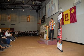 Wab Kinew spoke to over 1000 students at the 7th annual Boys and Girls Club Making a Difference Speaker Series on March 5.