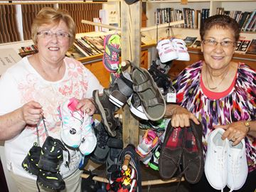 Wasaga church sprouts shoes for food bank