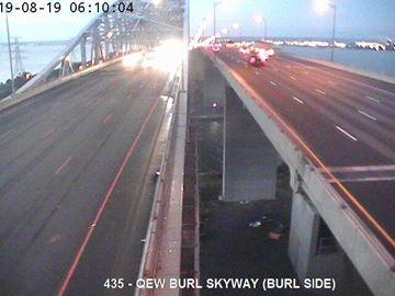 QEW at the Burlington Skyway Monday morning.