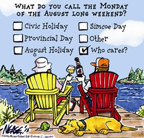 Cartoon - NEASE - Civic Holiday