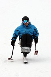 Rich Vanderwal of Toronto has been a skier since he was a high school student, and has been sit skiing since the age of 21 when he was in a motorcycle accident. He has competed at past World Cup events, and now works as a recreation therapist for Neurocore and works closely with Spinal Cord Injury Ontario