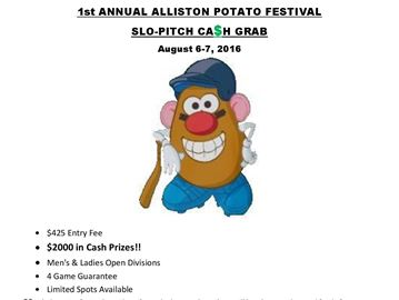 Slo-pitch tournament taking the field at Alliston Potato Festival
