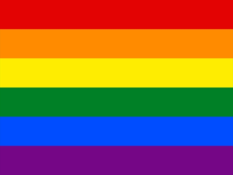 What do the colours of the PRIDE rainbow flag represent