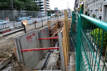Eglinton LRT Construction west of Allen