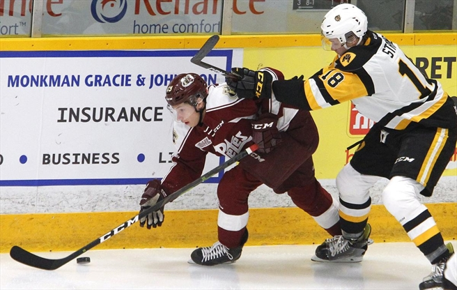 Peterborough Petes forward Semyon Der-Arguchintsev making pro debut with ECHL's Newfoundland Growlers