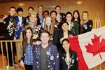 Exchange students from 15 countries ski at Blue Mountain with Thornbury Clarksburg Rotary Club