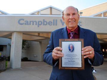 Rankin Construction founder Tom Rankin, shown at regional headquarters Thursday night, was named recipient of the 15th annual T. Roy Adams Humanitarian Award.