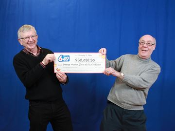 Alliston man wins $68K lottery prize with friend