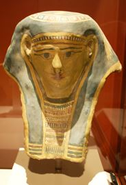 While sarcophagi like this are what people typically think of when it comes to mummies, many cultures – not just the ancient Egyptians – mummified their dead. The Mummies of the World exhibit aims to showcase the different methods used by various cultures.